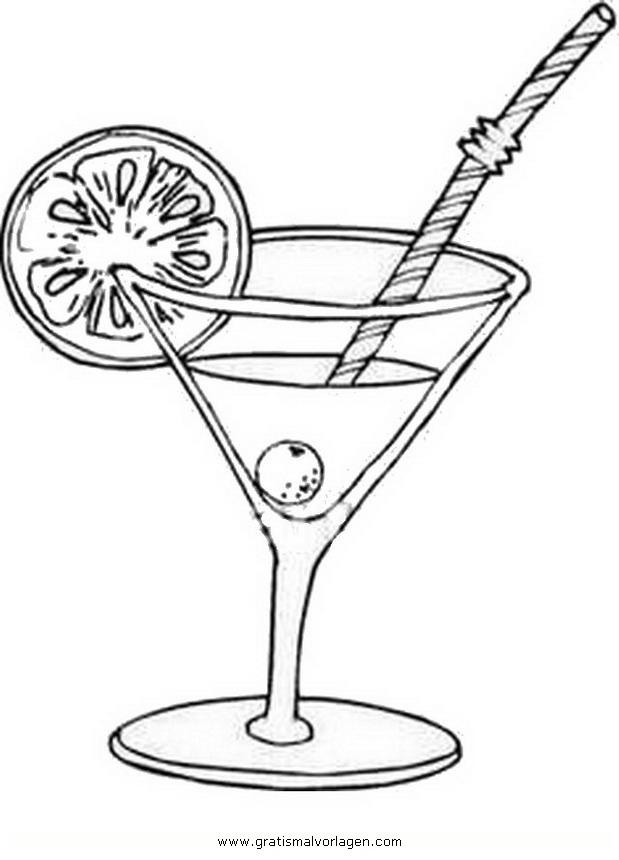 Cocktail gratis malvorlage in beliebt diverse
