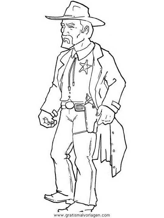 Cowboy Farwest 109 Gratis Malvorlage In Cowboy, Menschen -2410