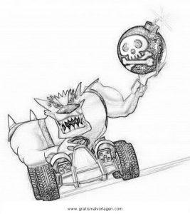 Crash Bandicoot 10 Gratis Malvorlage In Comic Trickfilmfiguren