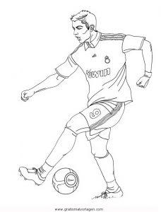 Cristiano Ronaldo 1 Gratis Malvorlage In American Football Sport