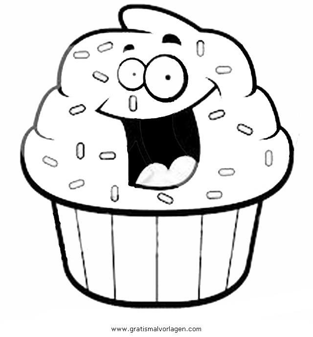 cupcake 4 gratis Malvorlage in Beliebt11, Diverse ...