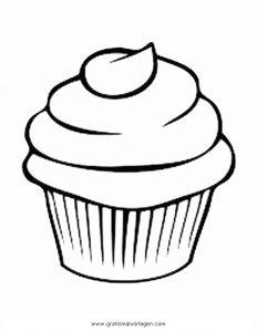 Cupcake 6 Gratis Malvorlage In Beliebt11 Diverse Malvorlagen Ausmalen
