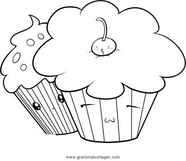 cupcake 7 gratis Malvorlage in Beliebt11, Diverse Malvorlagen - ausmalen
