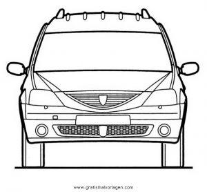 dacia logan 2 gratis malvorlage in autos2, transportmittel - ausmalen