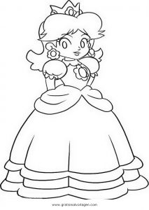 Daisy Mario 2 Gratis Malvorlage In Comic Trickfilmfiguren Mario