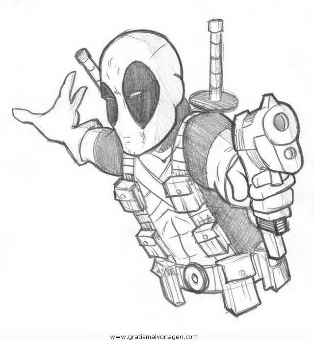 deadpool 6 gratis malvorlage in comic  trickfilmfiguren