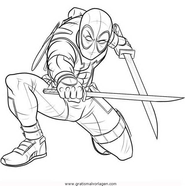 deadpool 7 gratis Malvorlage in Comic & Trickfilmfiguren ...