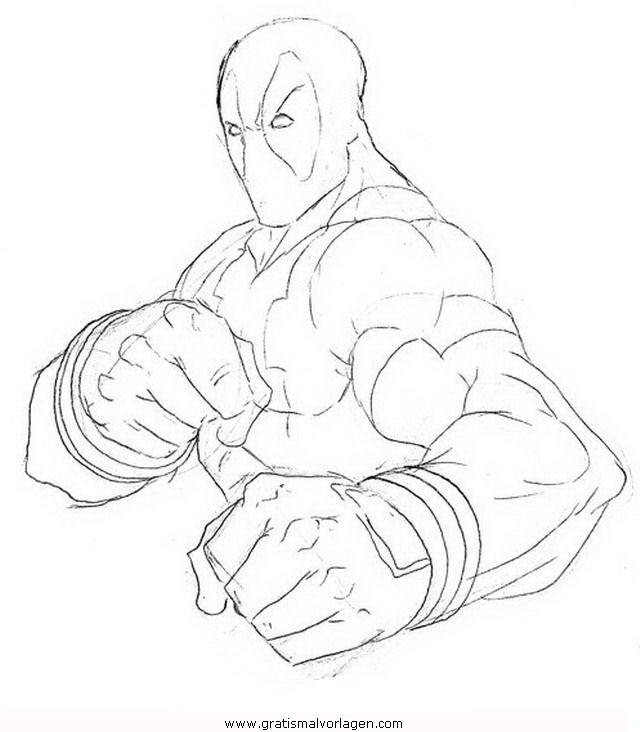 Marvel Malvorlagen Marvel Comic Helden Malvorlagen: Deadpool Gratis Malvorlage In Comic & Trickfilmfiguren