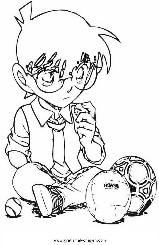 Detective Conan 10 Gratis Malvorlage In Comic Trickfilmfiguren Detektiv Conan Ausmalen