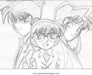 Detective Conan 11 Gratis Malvorlage In Comic Trickfilmfiguren Detektiv Conan Ausmalen