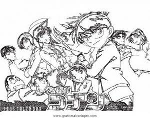 Detective Conan 13 Gratis Malvorlage In Comic Trickfilmfiguren Detektiv Conan Ausmalen