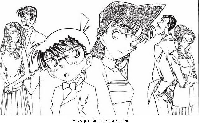 Detective Conan 15 Gratis Malvorlage In Comic Trickfilmfiguren Detektiv Conan Ausmalen