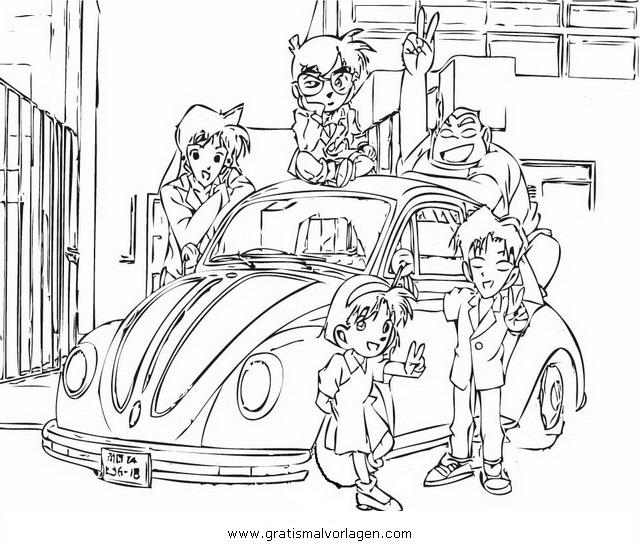 Detective Conan 18 Gratis Malvorlage In Comic Trickfilmfiguren Detektiv Conan Ausmalen