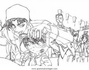 Detective Conan 19 Gratis Malvorlage In Comic Trickfilmfiguren Detektiv Conan Ausmalen