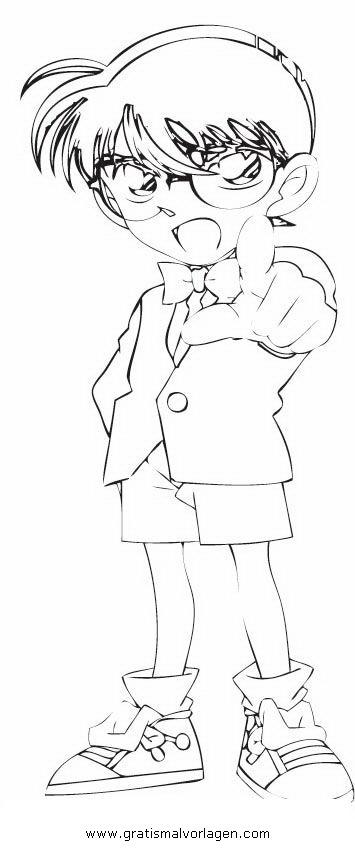 Detective Conan 20 Gratis Malvorlage In Comic Trickfilmfiguren Detektiv Conan Ausmalen