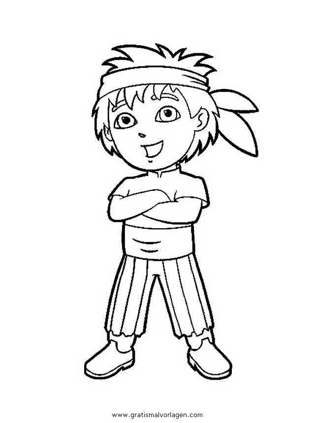 diego 10 gratis malvorlage in comic  trickfilmfiguren