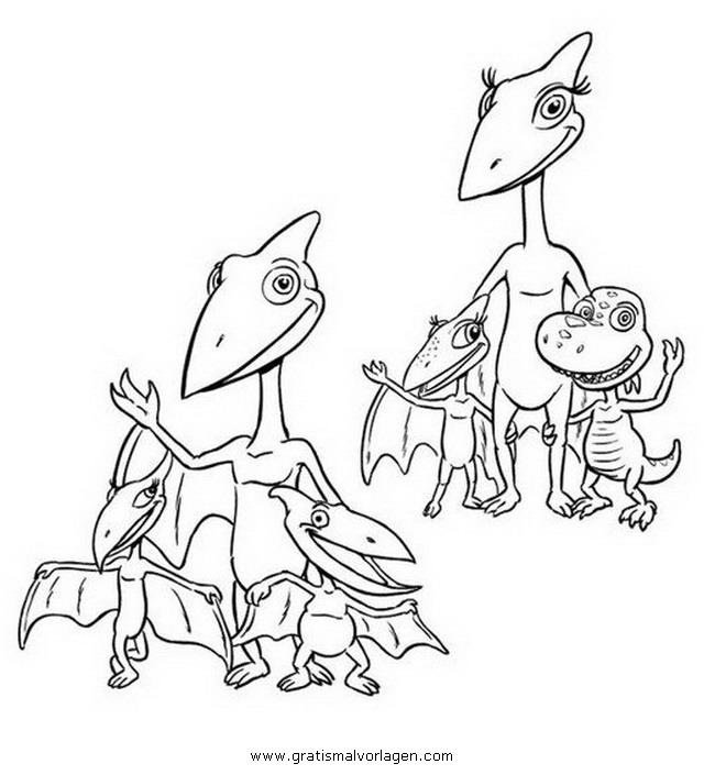 Dino Zug Dinozug 01 Gratis Malvorlage In Comic Trickfilmfiguren