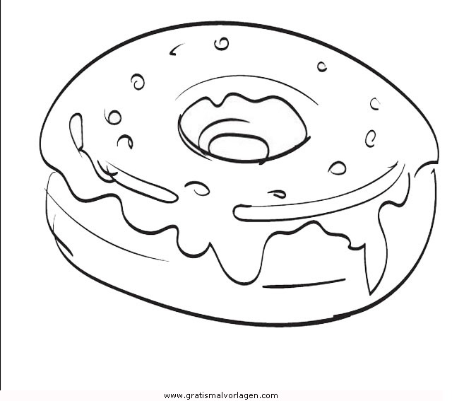 Donut 2 Gratis Malvorlage In Essen Trinken Lebensmittel Speisen