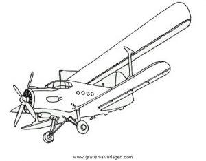 Doppeldecker 0 Gratis Malvorlage In Flugzeuge Transportmittel