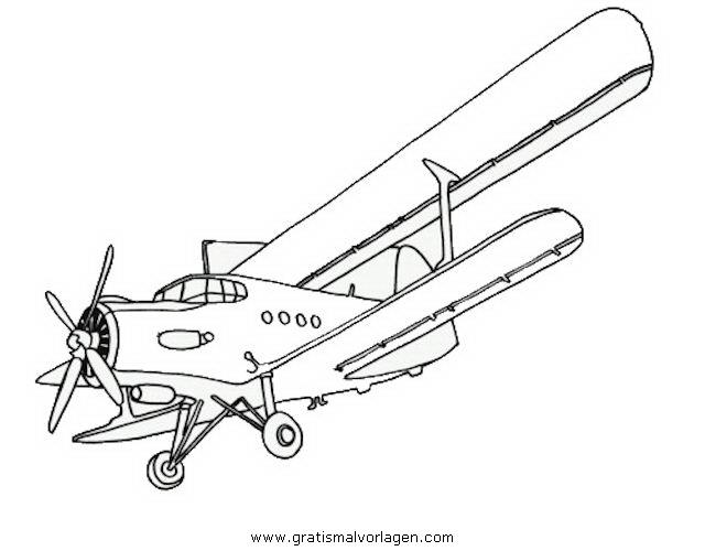 Flugzeuge Malvorlagen Zum Ausmalen Für Kinder