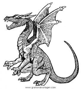 Drachen 064 Gratis Malvorlage In Drachen Fantasie Ausmalen