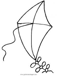 Drachensteigen 45 Gratis Malvorlage In Kinder Menschen Ausmalen