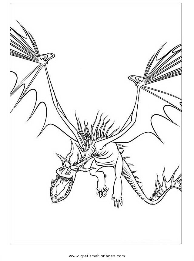 Dragon Trainer 03 Gratis Malvorlage In Comic Trickfilmfiguren
