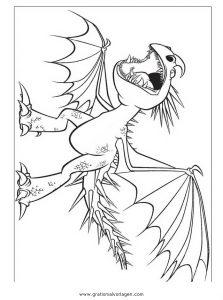Dragon Trainer 05 Gratis Malvorlage In Comic Trickfilmfiguren