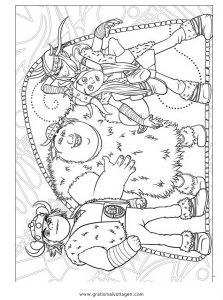 Dragon Trainer 11 Gratis Malvorlage In Comic Trickfilmfiguren