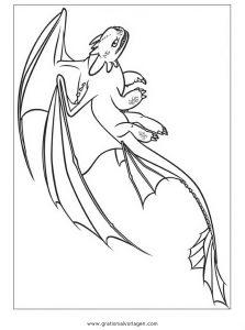 Dragon Trainer 12 Gratis Malvorlage In Comic Trickfilmfiguren