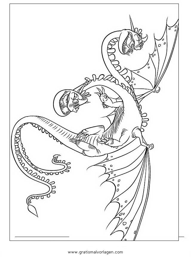 ausmalbilder dragons dreifachstachel  kostenlos zum