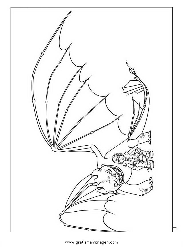 Dragon Trainer 18 Gratis Malvorlage In Comic Trickfilmfiguren