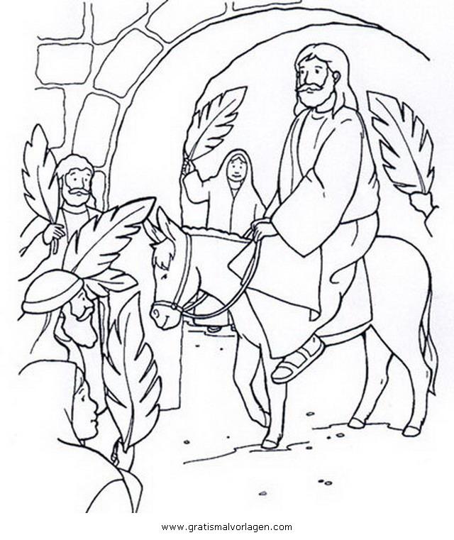 Einzug In Jerusalem Ausmalbild