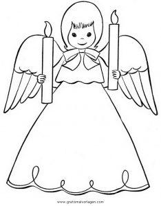Engel 19 Gratis Malvorlage In Engel Weihnachten Ausmalen