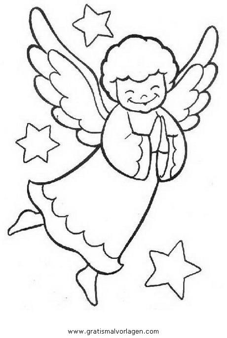 Engel 20 Gratis Malvorlage In Engel Weihnachten Ausmalen