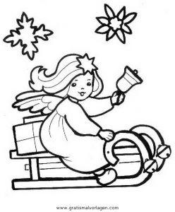 Engel 33 Gratis Malvorlage In Engel Weihnachten Ausmalen
