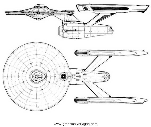 ausmalbilder raumschiff enterprise
