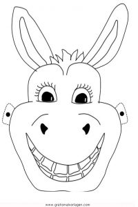 Esel Maske Gratis Malvorlage In Feste Karneval Ausmalen