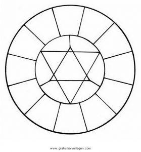 Malvorlage Geometrische Formen farbkreis 2