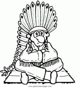 Malvorlage Indianer federn 70