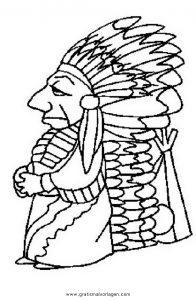 Malvorlage Indianer federn 77
