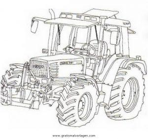 Fendt Traktor Gratis Malvorlage In Baumaschinen Transportmittel