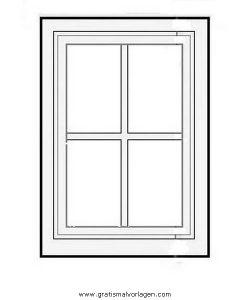 Ausmalbild Fenster
