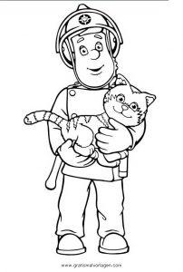 Feuerwehrmann Sam 06 Gratis Malvorlage In Comic Trickfilmfiguren