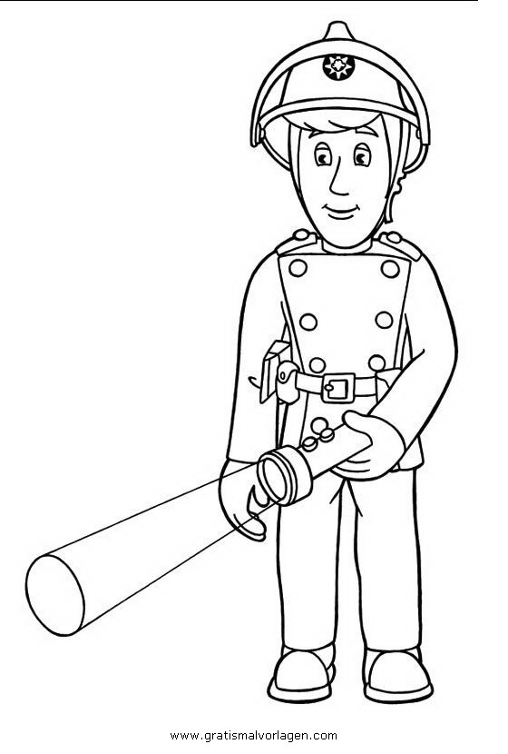 feuerwehrmann sam 07 gratis malvorlage in comic