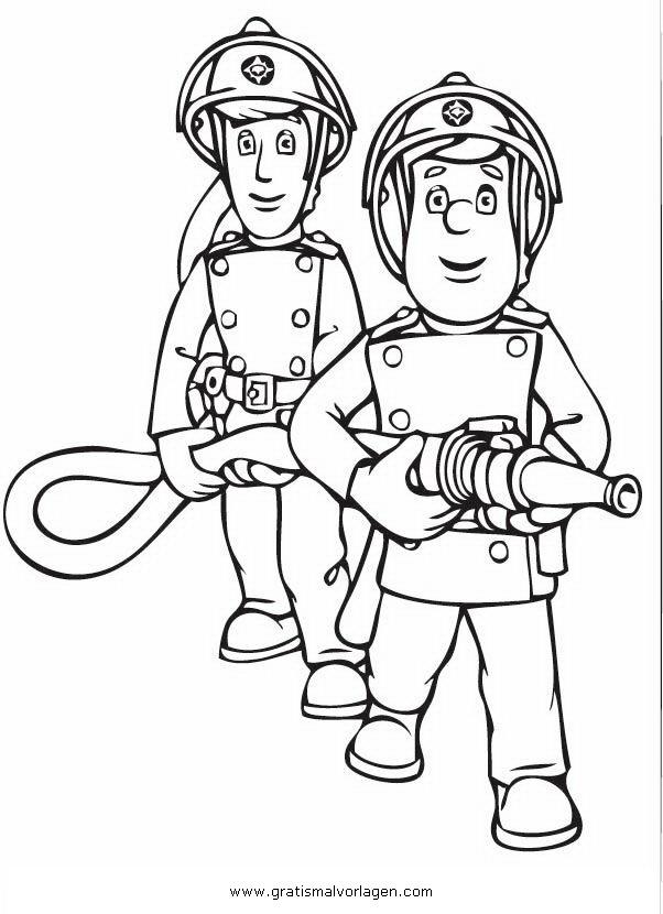 Feuerwehrmann Sam Malvorlagen Zum Ausmalen Fur Kinder