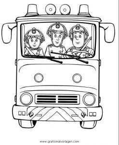 Feuerwehrmann Sam 13 Gratis Malvorlage In Comic Trickfilmfiguren