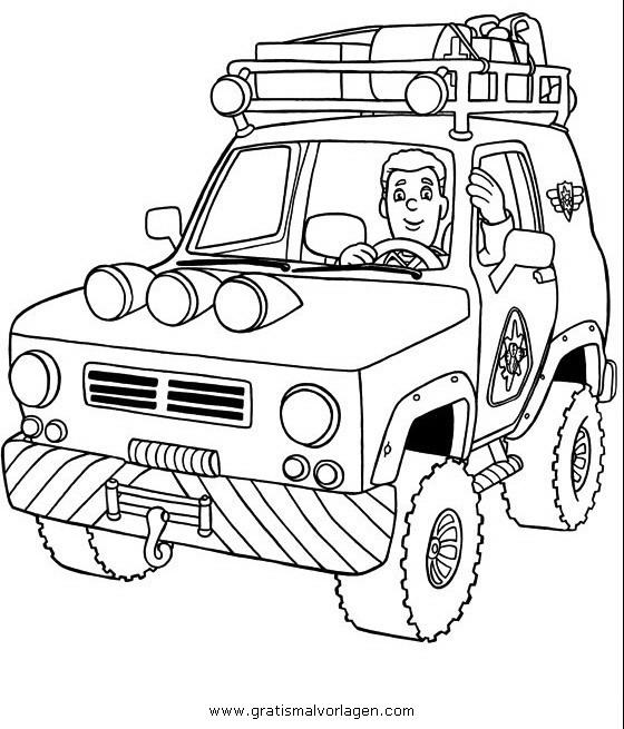 Feuerwehrmann sam 15 gratis malvorlage in comic for Jeep da colorare