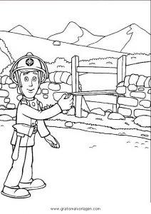 feuerwehrmann sam 20 gratis malvorlage in comic  trickfilmfiguren, feuerwehrmann sam - ausmalen