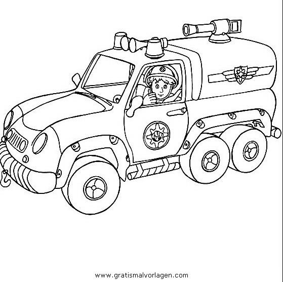 Feuerwehrmann Sam 25 Gratis Malvorlage In Comic Trickfilmfiguren